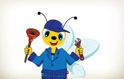 Idraulico Bee Fotografia Stock