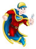 Idraulico Super Hero illustrazione di stock