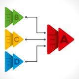 Idérik affärsinformation-diagram design Royaltyfri Bild