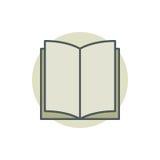 Idérik färgrik boksymbol Fotografering för Bildbyråer