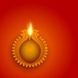 Idérik tänd lampa för lycklig Diwali beröm Arkivbilder