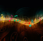 idérika musikanmärkningar Royaltyfri Fotografi