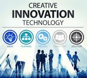Idérikt begrepp för inspiration för innovationteknologiidéer Arkivfoto