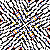 Idérikt fyrkantigt begrepp Datorskärmskärm Abstrakt affisch för bakgrundsdesigntapet Färgbildsammansättning fyrkanter Arkivfoton