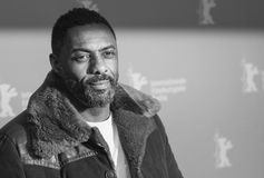 Idris Elba attends the `Yardie`. Premiere during the 68th Berlinale International Film Festival Berlin at Zoo Palast on February 22, 2018 in Berlin, Germany royalty free stock images