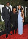 Idris Elba & Naomie Harris & Zindzi Mandela Stock Image