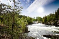 Idro fiume di potenza Fotografie Stock