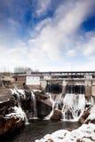 Idro inverno della diga Fotografie Stock
