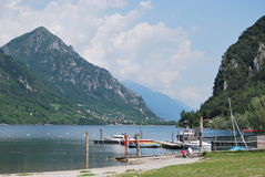 Idro lake. Northern Italy Lombardy Stock Photos