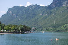 Idro lake. After the Gavia Pass Royalty Free Stock Photography