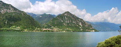 Idro lake. Area garda lake in the brescia country Royalty Free Stock Image