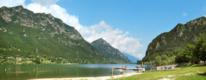Idro lake. Area garda lake in the brescia country Royalty Free Stock Photography