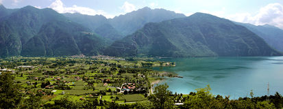 Idro lake. Northern Lombardy, brescia country Royalty Free Stock Images