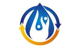 Idro Logo Design Template in buona salute Fotografia Stock Libera da Diritti