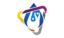 Idro Logo Design Template in buona salute Immagine Stock Libera da Diritti