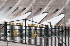 Idro Mansfield diga di LCRA Fotografia Stock Libera da Diritti