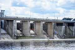 idro portoni elettrici della centrale elettrica per acqua Immagini Stock