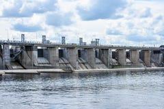 idro portoni elettrici della centrale elettrica per acqua Immagine Stock