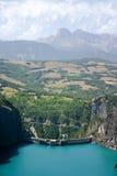Idro vista della diga dal cielo fotografia stock libera da diritti