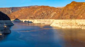 Idromele del lago dam di Hoover Immagini Stock