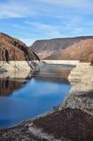 Idromele del lago vicino alla diga di Hoover immagini stock libere da diritti