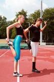 idrotts- övningar Arkivbild