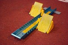 idrotts- blockstart Royaltyfri Fotografi