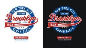 Idrotts- BrooklynT-skjorta bildvektor Royaltyfria Bilder