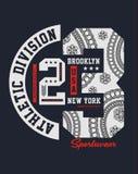 Idrotts- design för uppdelningsBrooklyn NYC typografi Royaltyfria Bilder