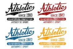 'Idrotts- efter 1983 ', 'mästerskapkonkurrens ', modell 'för autentisk sport ' royaltyfri illustrationer