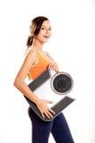 Idrotts- flicka med en scale arkivbild