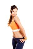 idrotts- härlig flicka arkivfoton