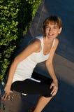 idrotts- härlig kvinna Royaltyfri Fotografi