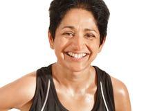 Idrotts- indisk kvinna Royaltyfria Foton