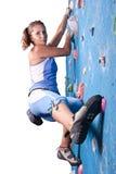 idrotts- klättringflicka Arkivbilder