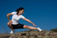 idrotts- kvinna Royaltyfri Foto