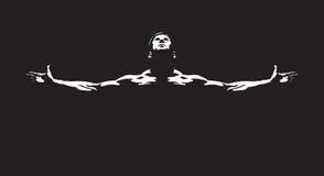 idrotts- män royaltyfri illustrationer