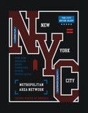 Idrotts- New York City vektorbild Fotografering för Bildbyråer