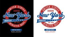 Idrotts- New York vektor Arkivbilder