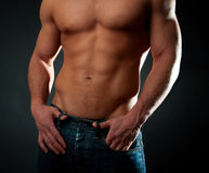 idrotts- sexig torso Arkivfoton