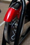 Idrottshallcykeln rullar Arkivbild