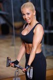 idrottshallkvinna Royaltyfri Foto