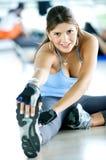idrottshallkvinna Royaltyfri Bild