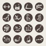 Idrottshallutrustningsymboler stock illustrationer