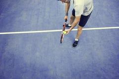 Idrottsman nen Match Concept för racket för tennissportracket Royaltyfria Foton