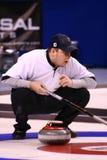 idrottsman nen som krullar john olympic shuster USA Arkivbild
