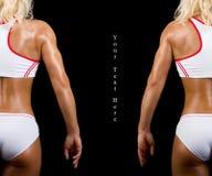 idrottsman nenar sexiga två Royaltyfri Foto