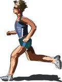 idrottsman nenrunning Arkivfoto