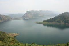 Idukki Verdammung an der größten Bogen-Verdammung Keralas - Asiens lizenzfreie stockfotos