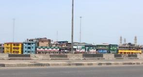 Idumota-Markt, gesehen von Manland-Brücke Lagos Nigeria stockfoto